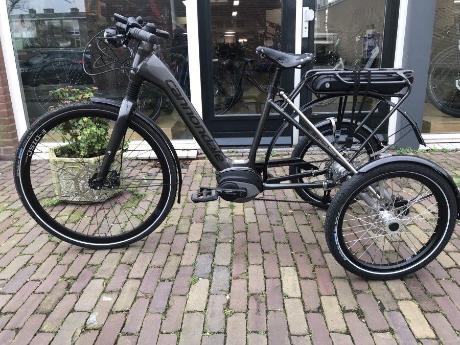 Omgebouwde Cannondale Mavaro zorgt dat Piet kan blijven fietsen